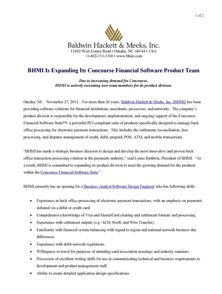 press releases Press Releases BHMI 2012 Concourse Financial Software Team Growing Page 1 773x1024