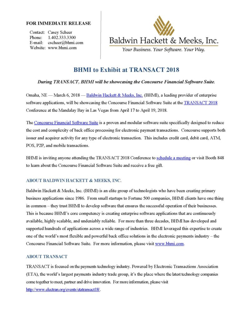 press releases Press Releases BHMI 2018 TRANSACT 791x1024