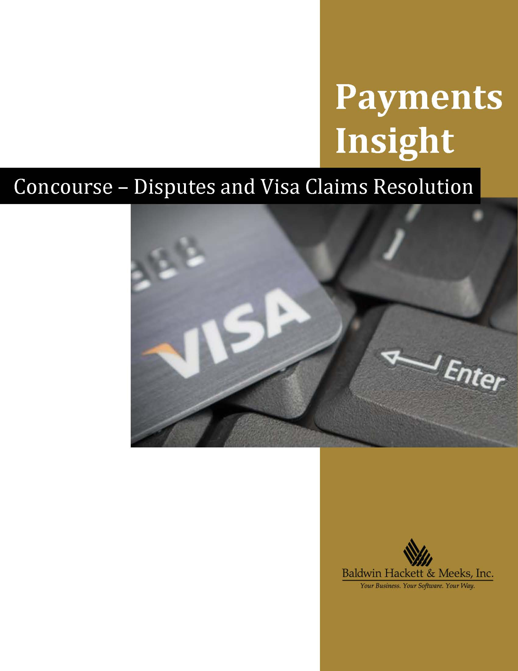 PAYMENTS INSIGHT: CONCOURSE – DISPUTES AND VISA CLAIMS RESOLUTION