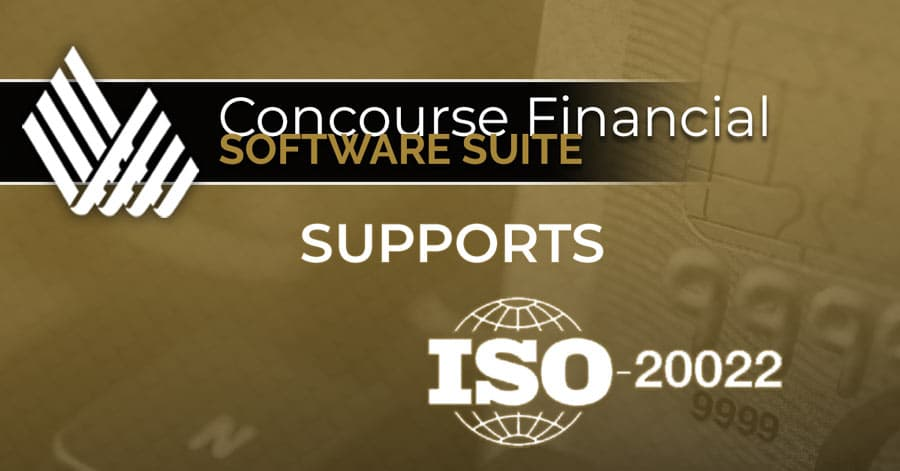 Concourse Supports ISO 20022 Payments Format and SEPA concourse supports iso 20022