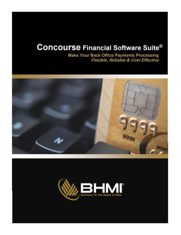 Concourse Financial Software Suite Brochure Cover